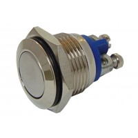 Кнопка антивандальная плоская 28B-2 (d=16мм; 2А; 250В)