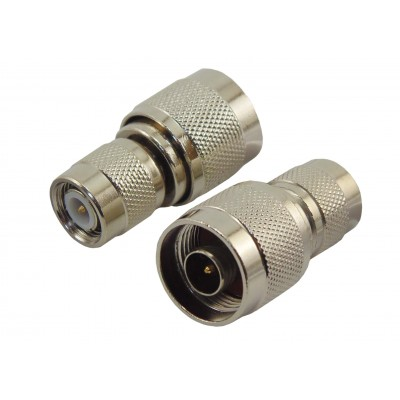 Переходник штекер N - штекер TNC (серый металл)