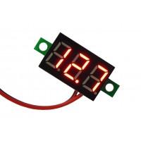 Цифровой вольтметр DC-0,36 (4,5 - 30В) красный