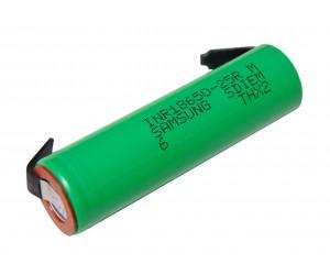 Аккумулятор монтажный 3,7В, 2500мАч INR18650-25R Samsung (20А) без защиты