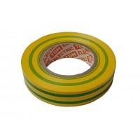 Изолента ПВХ 0,13х15мм 20м (желто-зеленая) TDM