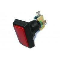 Кнопка с подсветкой PB-07 (красная, прямоугольная)
