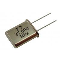 Кварцевый резонатор 27,0000MHz (HC-49U)