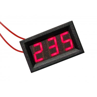 Цифровой вольтметр переменного напряжения AC-0,56 (красный)