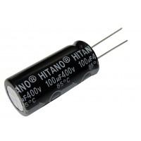Конденсатор электролитический   100 мкФ х 400В (85°C) HITANO