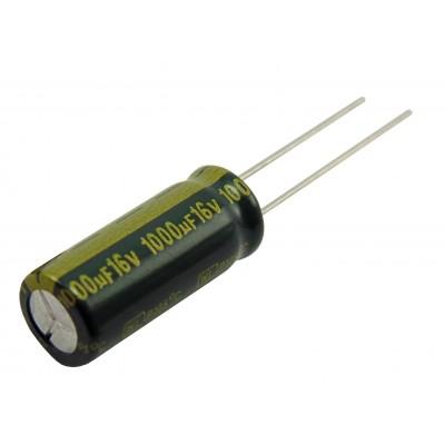 Конденсатор компьютерный 1000мкФ - 16В (105°C) <8x20> Jamicon WL