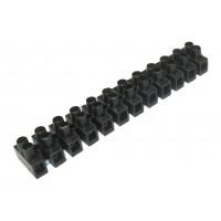 Зажим винтовой 12 пар ЗВИ-10 (1,5-6мм2) черный (TDM)