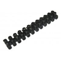 Зажим винтовой 12 пар ЗВИ-15 (1,5-6мм2) черный (TDM)
