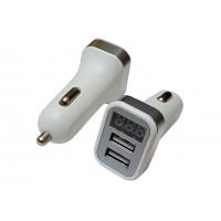 Переходник штекер прикуривателя - 2 гнезда USB-A (тип 2) с индикацией