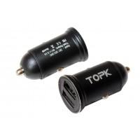 Автомобильное зарядное устройство TOPK G204 (3,1А) без кабеля