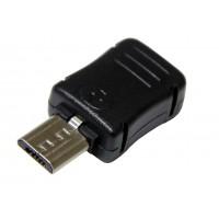 Штекер micro USB 5pin под кабель (с корпусом)
