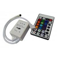Контроллер для светодиодной ленты RGB с пультом (Uвх = 12 - 24В; Uвых = 12 - 24В; Iвых = 3 х 2А)