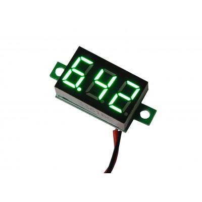 Цифровой вольтметр DC-0,36 (4,5 - 30В) зеленый