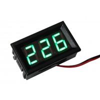 Цифровой вольтметр переменного напряжения AC-0,56 (зелёный)