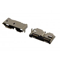 Гнездо micro USB-B 3.0 тип SMT (для жестких дисков)