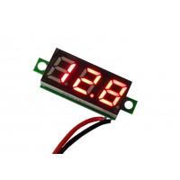 Цифровой вольтметр DC-0,28 (4,5 - 30В) красный