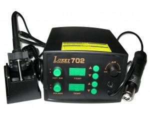 Паяльная станция LUKEY 702 (SMD ремонтная станция с двумя индикаторами)
