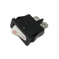 Выключатель без подсветки 220В 103, белый, 2 положения