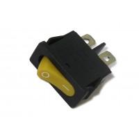 Выключатель без подсветки 220В 103, желтый, 2 положения