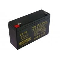 Аккумулятор свинцовый General Security GS12-6 (6В; 12Ач)