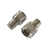Штекер N под кабель RG-6 (серый металл)