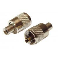 Штекер UHF RG-58 кабельный (серый металл)