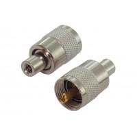 Штекер UHF RG-59 кабельный (серый металл)