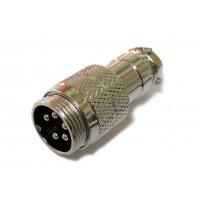 Штекер mini XLR кабельный 5pin (серый металл)