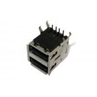 Гнездо USB-A монтажное (тип 4, спаренное)