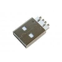 Штекер USB-A монтажный (прямые контакты, тип 1)