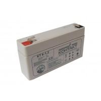 Аккумулятор свинцовый Контакт КТ 6-1,2 (6В; 1,2Ач)