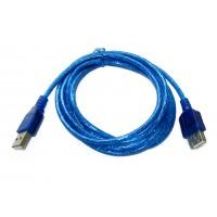 Шнур штекер USB-A - гнездо USB-A (удлинитель, синий, 1,8м)