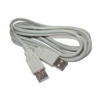 Шнур штекер USB-A - штекер USB-A (2,0м)
