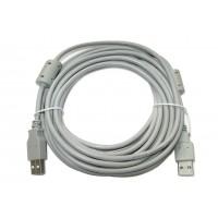 Шнур штекер USB-A - штекер USB-A (5,0м)