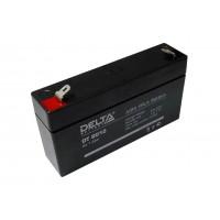 Аккумулятор свинцовый Delta DT6012 (6В; 1,2Ач)