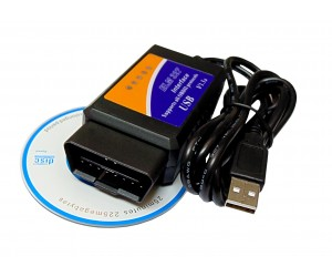 Сканер для компьютерной диагностики ELM327 USB (v1.5)