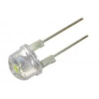 Светодиод  8мм SC-854-1 (белый, 5500-8000К)