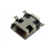 Гнездо mini USB 10pin H тип SMT 4pin HQ монтажное