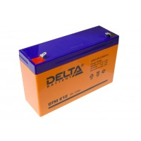 Аккумулятор свинцовый Delta DTM612 (6В; 12Ач)